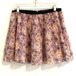 Victoria's Secret Purple Floral Mini Skirt